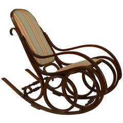 19th c. Austrian Bentwood Rocking Chair