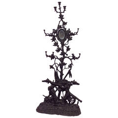 19th c. French Wrought Iron Hatrack by the Corneau Freres
