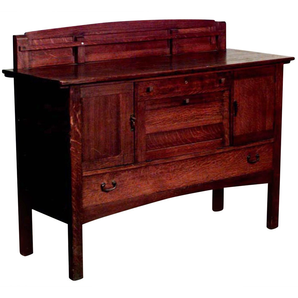 Turn of the century furniture - Turn Of The Century American Mission Sideboard By Limbert 2