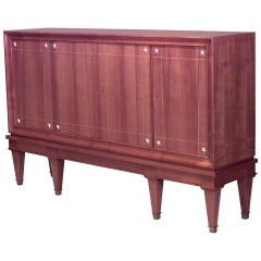 1940's French Cherrywood Sideboard, Attrib. to Dominique