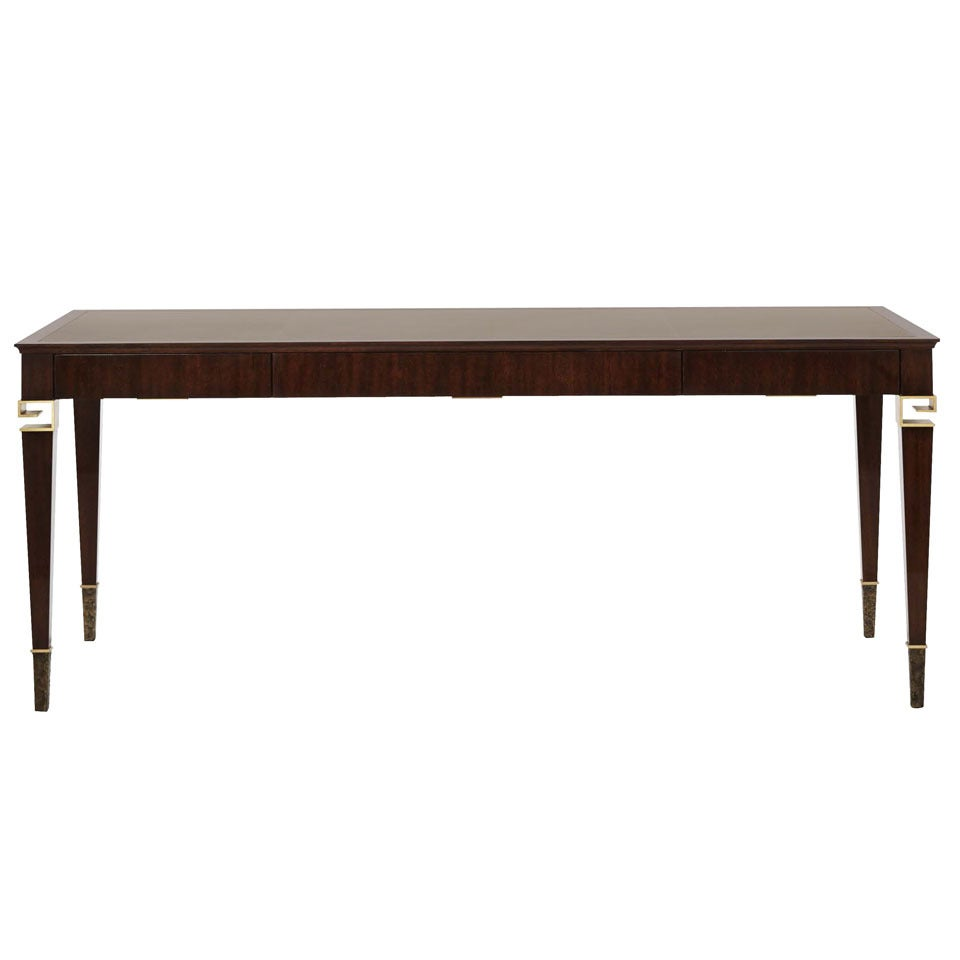 "Baker Thomas Pheasant Coffee Table: Contemporary American ""La Grecque"" Desk Signed By Thomas"