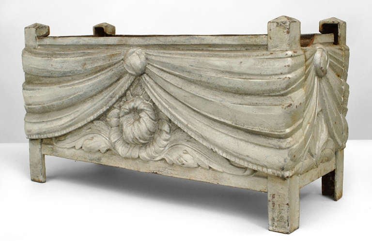 3 Large French Art Deco Swag Design Jardinieres For Sale At 1stdibs