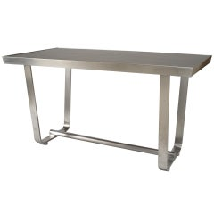 1940's American Aluminum and Lacquered Wood Center Table