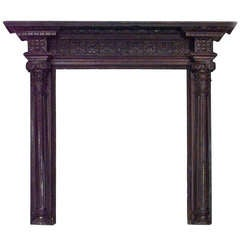 Turn of the Century Georgian Style Stained Oak Mantelpiece