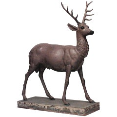 American Country Style Life Size Stag Sculpture