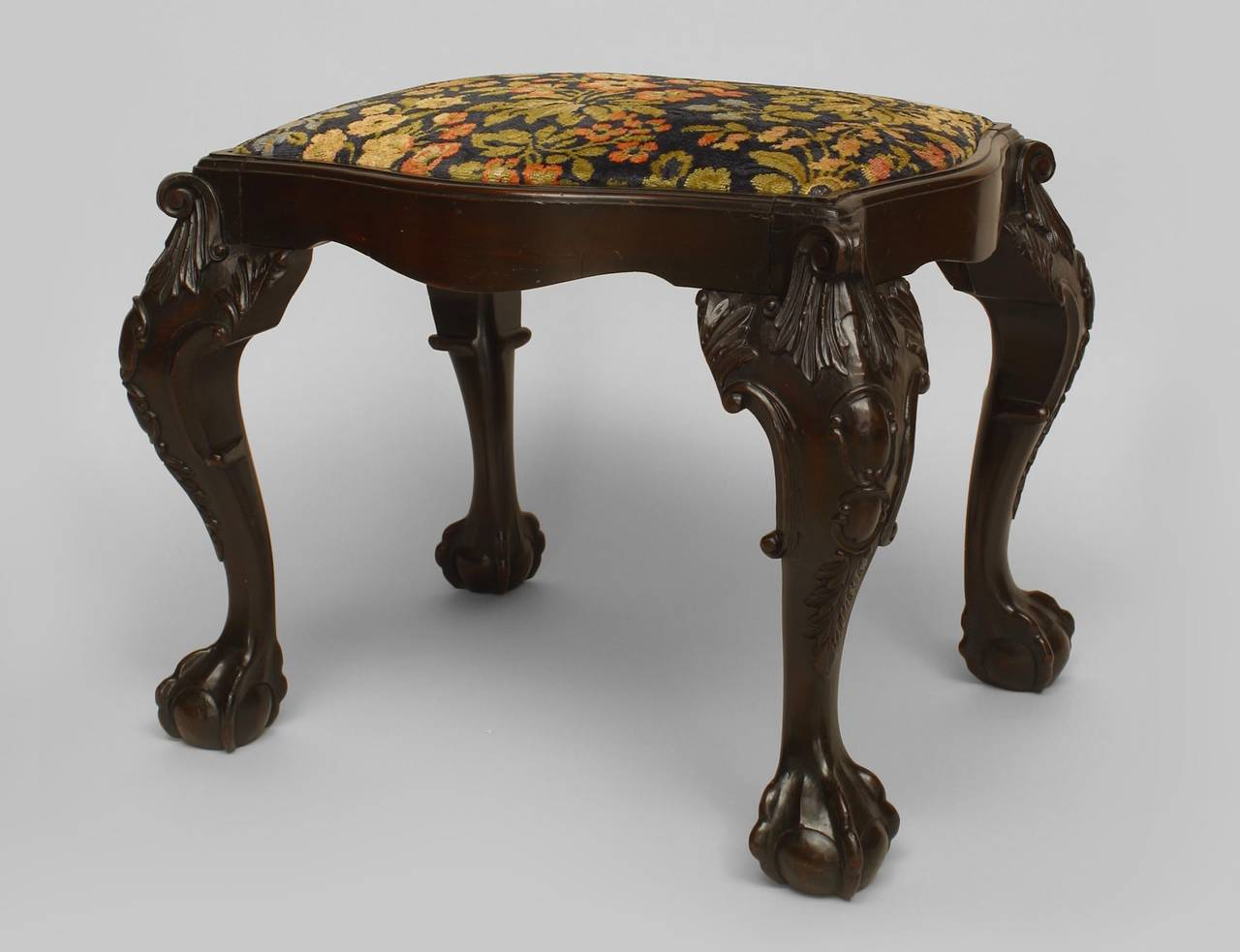 Turn Of The Century English Chippendale Style Mahogany Bench For Sale At 1stdibs