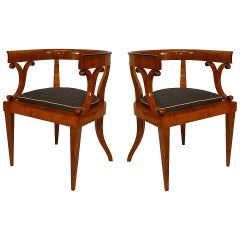 Pair of Early 19th c. Austrian Biedermeier Armchairs