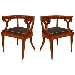 Pair of Early 19th c. Austrian Biedermeier Armchairs