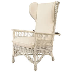 American Mission Wicker Morris Chair