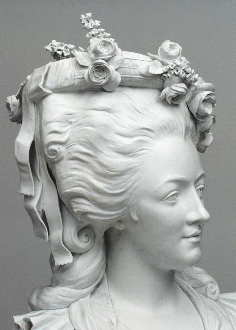 19th Century Life-Sized Porcelain Bust of a French Noblewoman 6