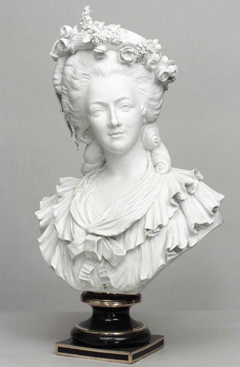 19th Century Life-Sized Porcelain Bust of a French Noblewoman 2