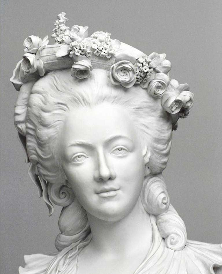 19th Century Life-Sized Porcelain Bust of a French Noblewoman 7