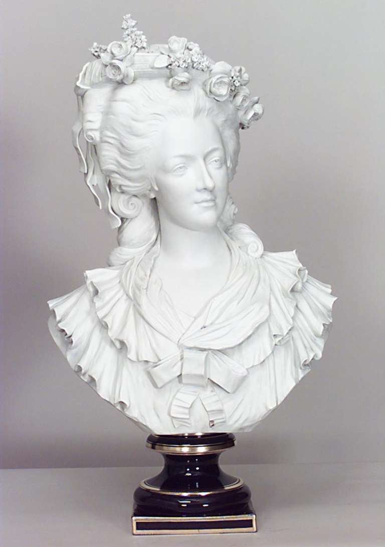 19th Century Life-Sized Porcelain Bust of a French Noblewoman 8