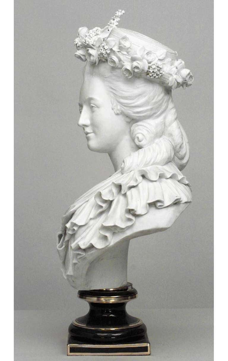 19th Century Life-Sized Porcelain Bust of a French Noblewoman 9