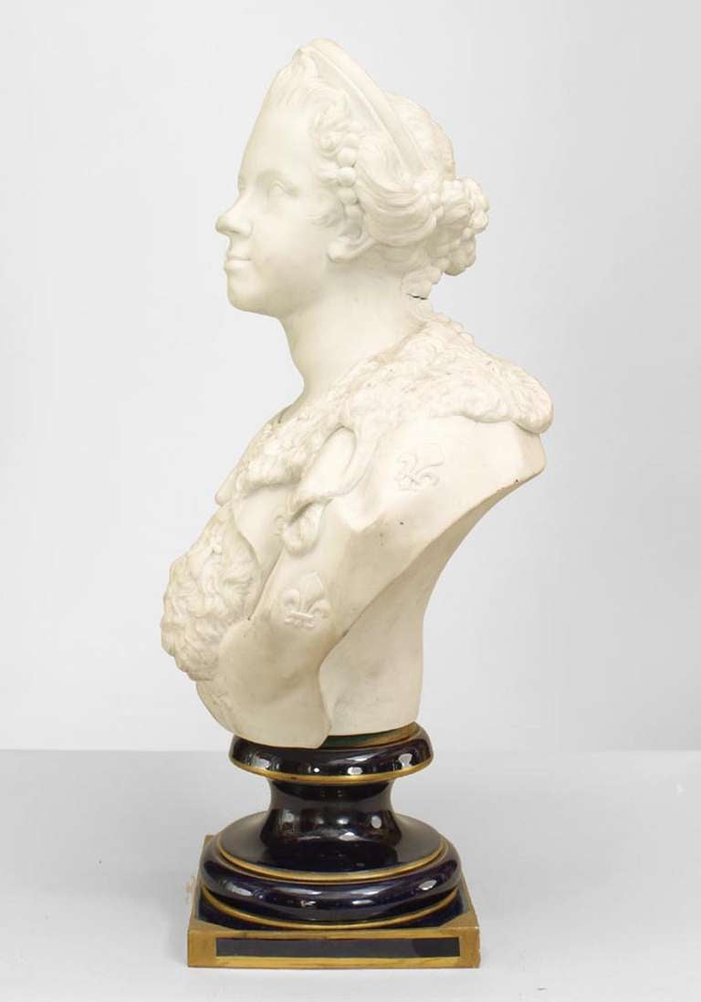 19th Century French Bust of Queen Marie Leczinska after Versailles Original 3