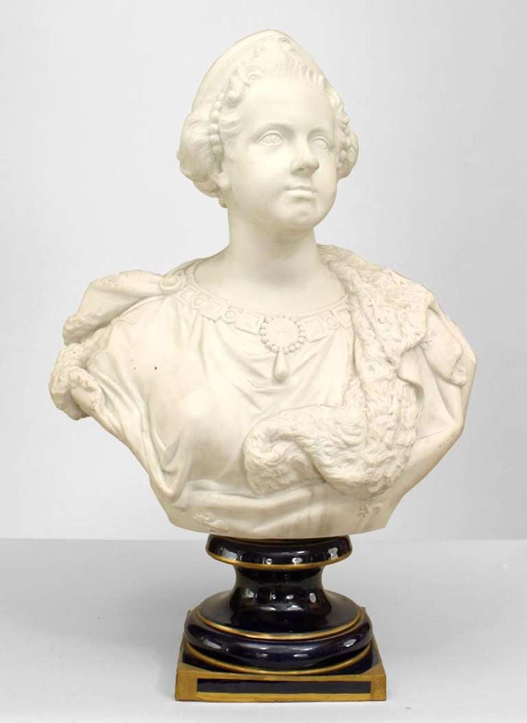 19th Century French Bust of Queen Marie Leczinska after Versailles Original 2