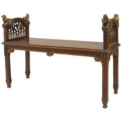 19th c. English Gothic Revival Bench