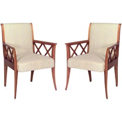 Pairs of 1940's French Armchairs, Att. Dominique - 1stdibs New York