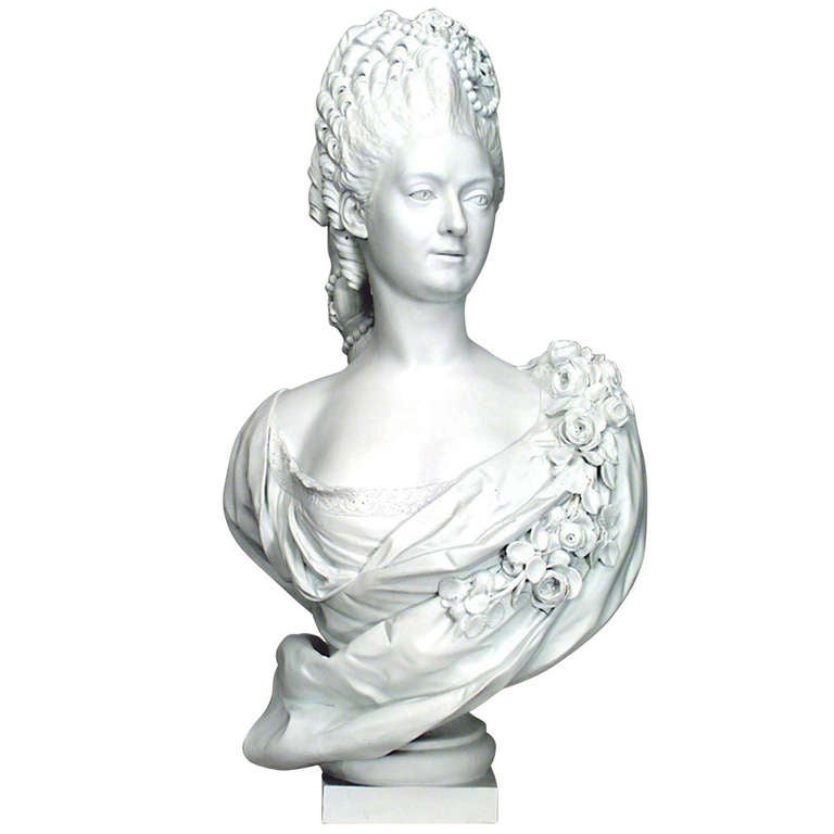 Late 19th Century Porcelain Bust of a Royal Frenchwoman