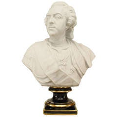Late 19th Century Porcelain Bust of King Louis XV