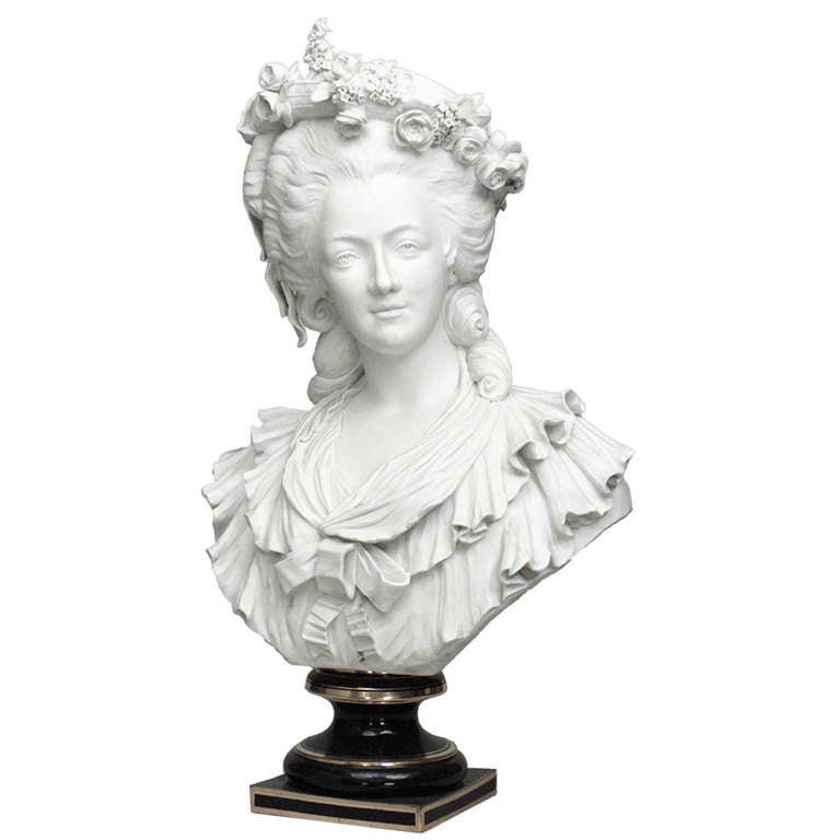 19th Century Life-Sized Porcelain Bust of a French Noblewoman 1
