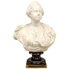 19th Century French Bust of Queen Marie Leczinska after Versailles Original