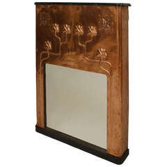 French Arts & Crafts Repurposed Fireplace Surround Console Table