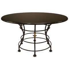 20th Century American Bronze Hoop Table by Carole Gratale