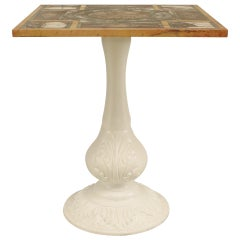 19th c. Italian Neoclassic Marble and Painted Iron Table