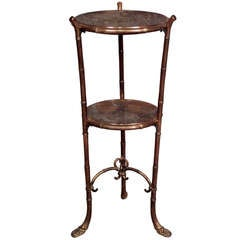 19th c. English Regency Bowl Shelf End Table