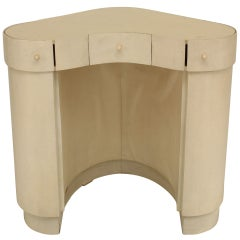 Diminutive Italian Art Deco Parchment Veneered Dressing Table