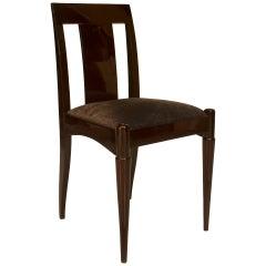 Set of Twelve 1930 Art Deco Side Chairs, Attrib. to Émile-Jacques Ruhlman