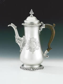 A good early George III Coffee Pot made in London in 1762 by Whipham & Wright.