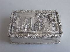 An important William IV Castle Top Snuff Box made by Joseph Willmore.