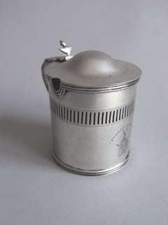 A rare George III Mustard Pot made in Edinburgh circa 1790 by Francis Howden.