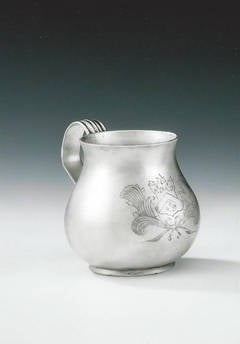 """WILLIAM & MARY. An important and exceptionally rare """"Pear"""" shaped Drinking Mug"""