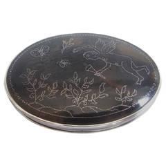 Rare William III Silver-Mounted Tortoiseshell Snuff Box