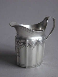 "A George III ""Can"" shaped Cream Jug, London, 1796, William Stroud."