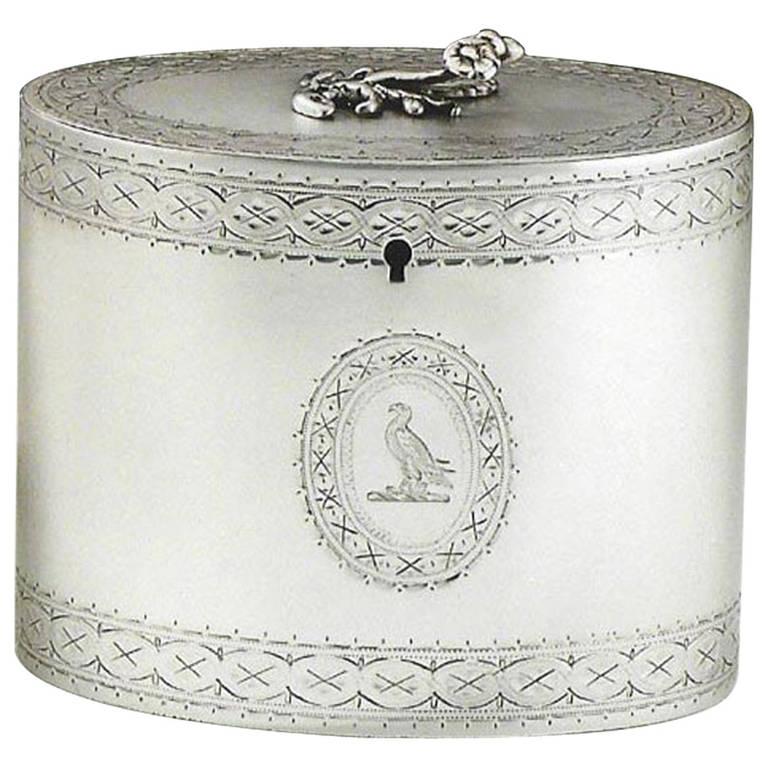Fine George III Tea Caddy