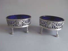 A set of four George III Neo Classical Salt Cellars made in London in 1774