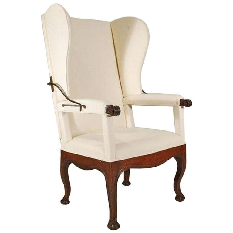 18th Century Antique Reclining Wing Arm Chair at 1stdibs