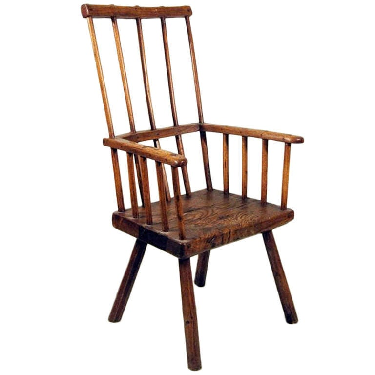 Antique 18th Century Ash Comb Back Windsor Chair At 1stdibs