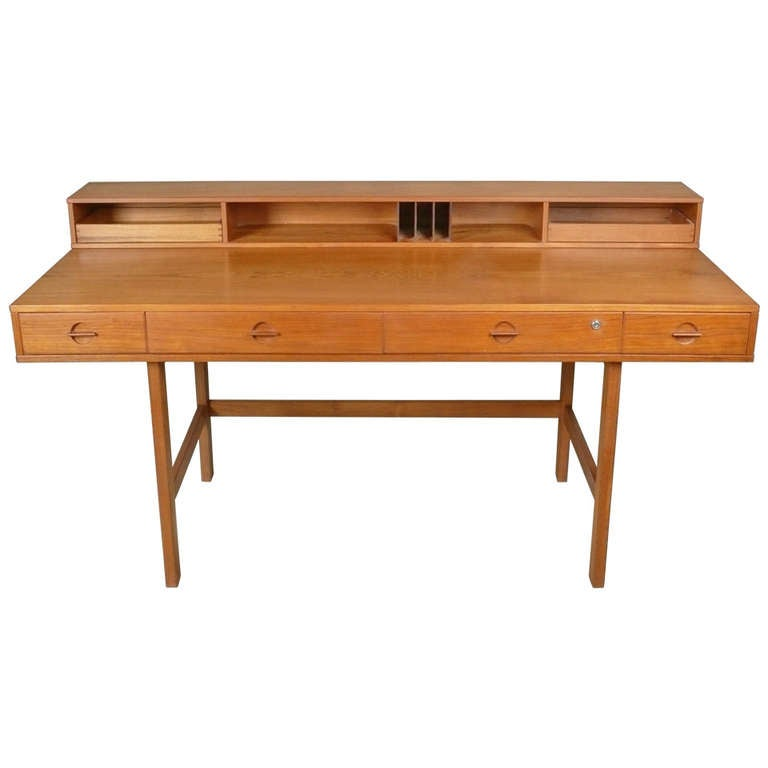 Jens Quistgaard Flip Top Desk In Teak At 1stdibs