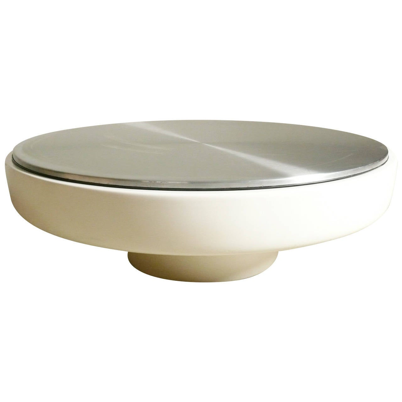 1970s Fiberglass And Stainless Steel Coffee Table At 1stdibs