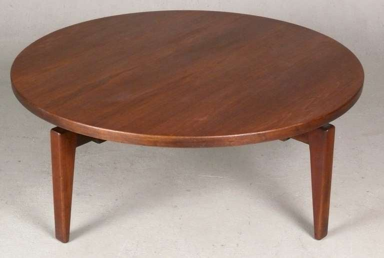 1960's Jens Risom Revolving Top Coffee Table 6