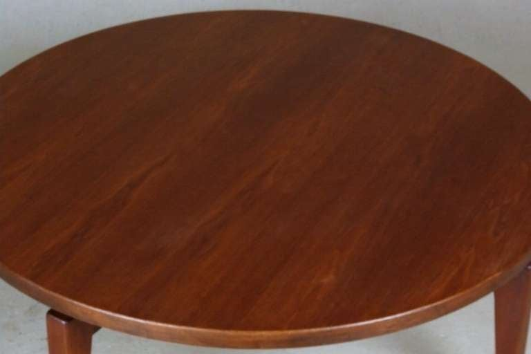 1960's Jens Risom Revolving Top Coffee Table 7