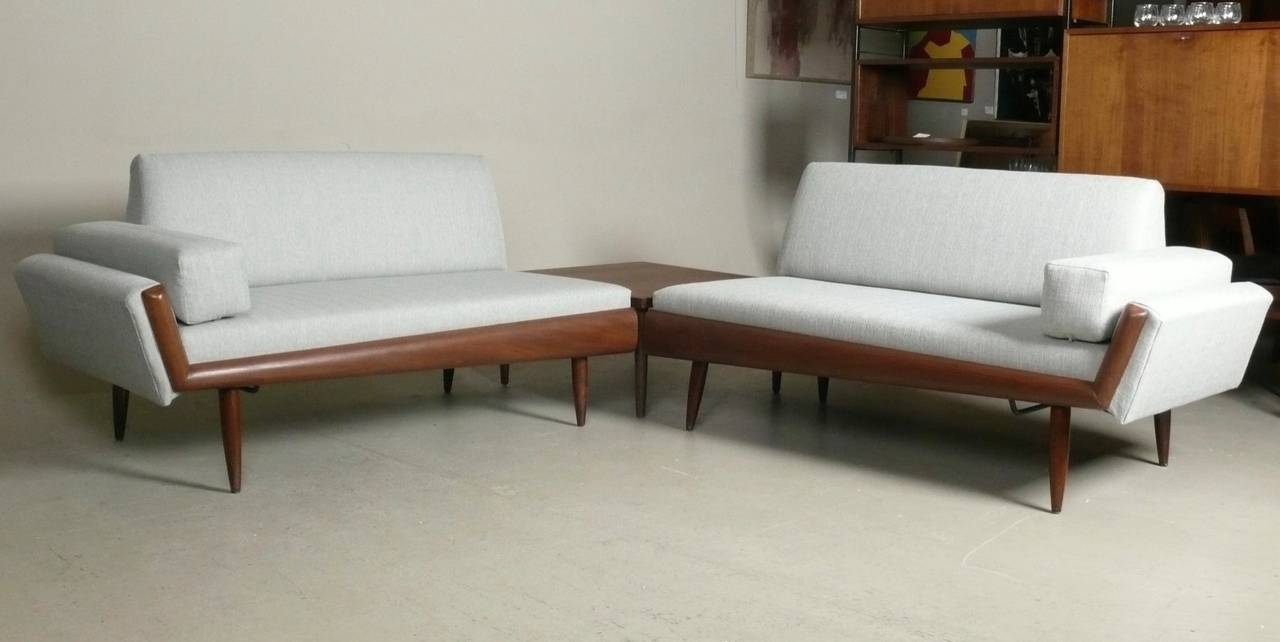 Adrian Pearsall Sectional Sofa With Corner Table At 1stdibs
