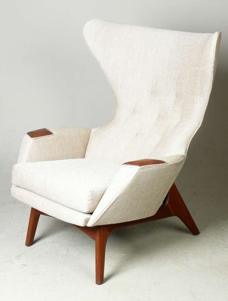 Adrian pearsall for craft associates modern wingback chair for Contemporary armchair