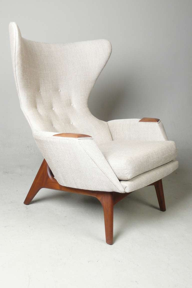 Adrian pearsall for craft associates modern wingback chair for Furniture chairs
