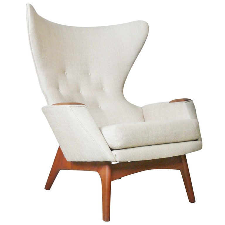 Adrian Pearsall For Craft Associates Modern Wingback Chair At 1stdibs